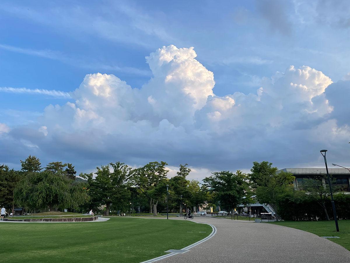 京都岡崎公園の風景