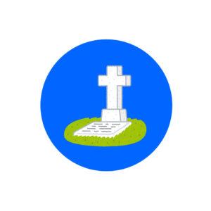お墓のイラスト