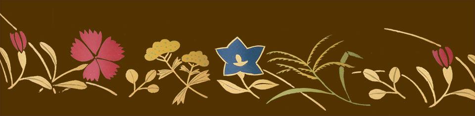 ミニ骨壷なごみ漆、秋の七草の柄