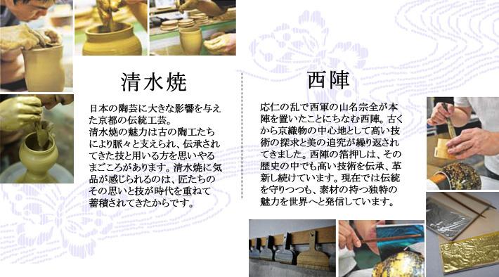 手元供養骨壷絆シリーズの清水焼の説明