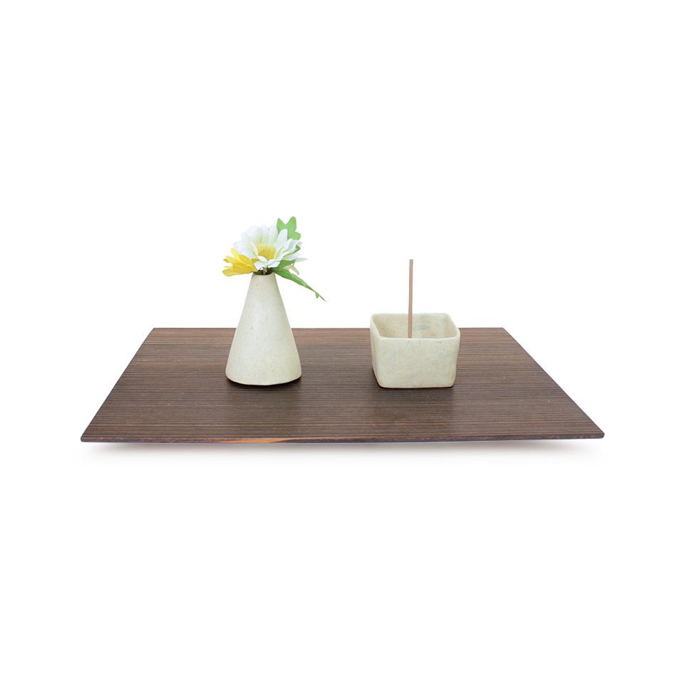 輪島漆塗り台座とお香たて、花立のセット