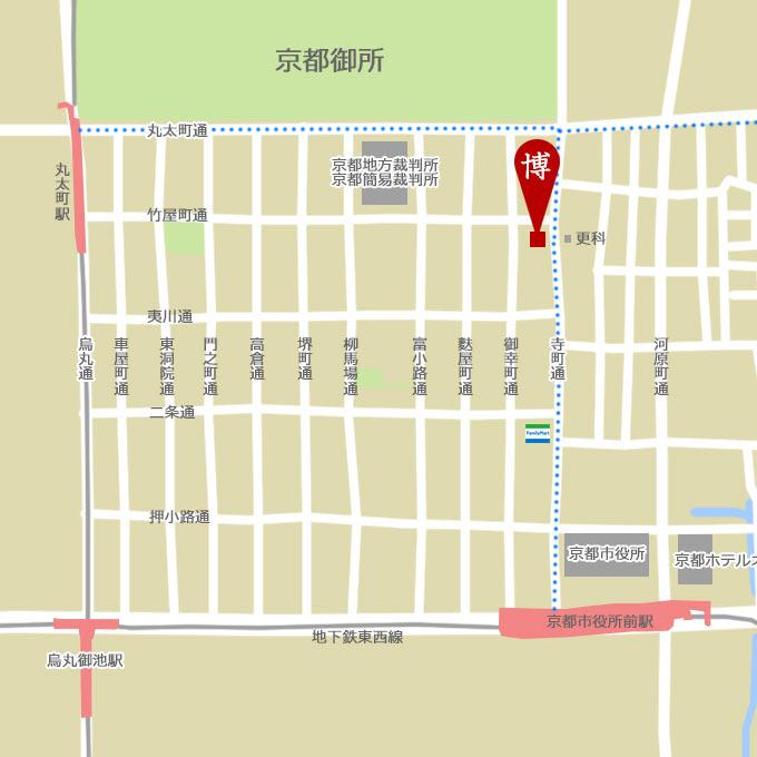 博國屋へのアクセスマップ