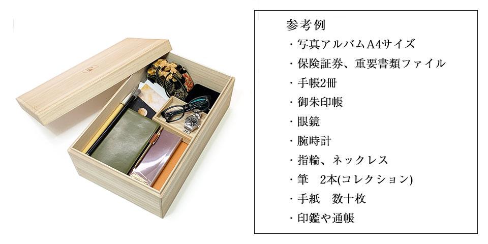 伝書箱の納め方の参考例